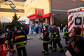 April 22, 2020<br /> Brooklyn, New York<br /> Park Slope<br /> 7PM<br /> <br /> Firefighters, local residents and EMS paramedics come out to applaud the medical staff that NewYork-Presbyterian Brooklyn Methodist Hospital handling the influx of coronavirus pandemic.