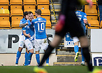 St Johnstone v Inverness Caley Thistle…03.12.16   McDiarmid Park..     SPFL<br />Liam Craig celebrates his goal with Richie Foster and David Wotherspoon<br />Picture by Graeme Hart.<br />Copyright Perthshire Picture Agency<br />Tel: 01738 623350  Mobile: 07990 594431