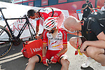 Jesus Herrada (ESP) Cofidis at the end of Stage 14 of La Vuelta d'Espana 2021, running 165.7km from Don Benito to Pico Villuercas, Spain. 28th August 2021.     <br /> Picture: Luis Angel Gomez/Photogomezsport   Cyclefile<br /> <br /> All photos usage must carry mandatory copyright credit (© Cyclefile   Luis Angel Gomez/Photogomezsport)