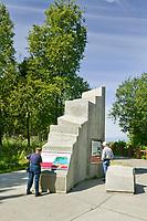 Earthquake park monument, along the Tony Knowles Coastal Trail, Anchorage, Alaska