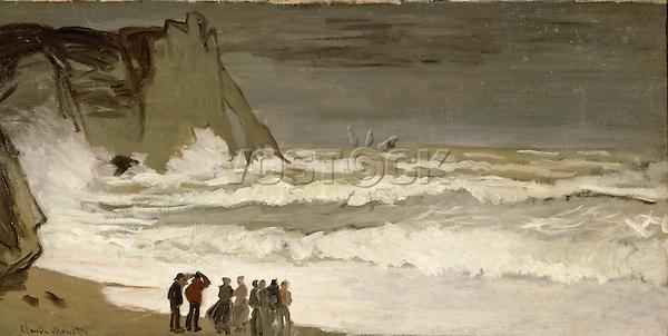 Claude Monet - Rough Sea at Etretat (1868-1869). Paris, musée d'Orsay.