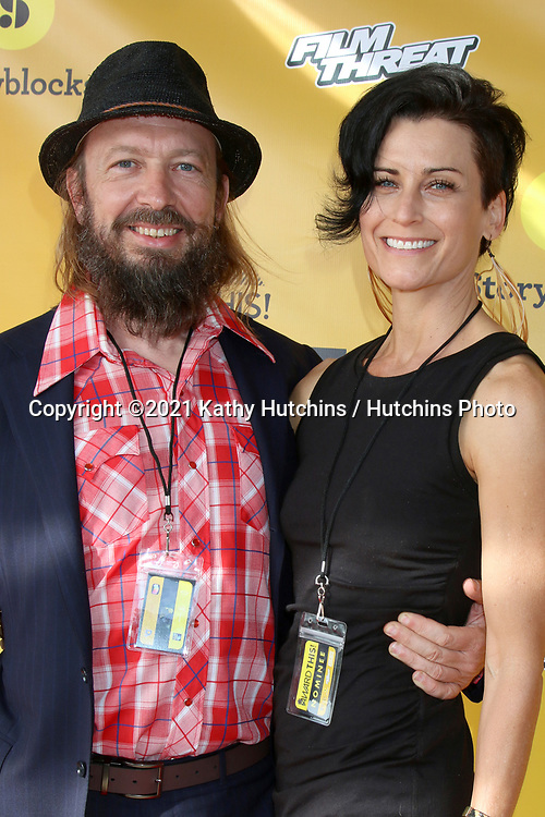 LOS ANGELES - APR 10:  Massimo Bardetti and Katherin Hervey at the Award This! 2021 LIVE Drive-In Awards  at the Mess Hall on April 10, 2021 in Tustin, CA