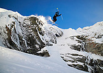 Pix: Shaun Flannery/shaunflanneryphotography.com<br /> <br /> COPYRIGHT PICTURE>>SHAUN FLANNERY>01302-570814>>07778315553>><br /> <br /> December 2018<br /> La Rosiere<br /> <br /> Mason Flannery<br /> Cliff drop