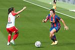 Liga IBERDROLA 2020-2021. Jornada: 10<br /> FC Barcelona vs Santa Teresa: 9-0.<br /> Mireya Garcia vs Mariona Caldentey.