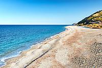 The beach Stomio near Kymi in Evia, Greece