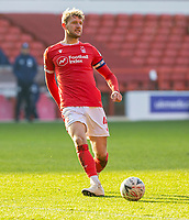 9th January 2021; City Ground, Nottinghamshire, Midlands, England; English FA Cup Football, Nottingham Forest versus Cardiff City; Joe Worrall of Nottingham Forest passing the ball