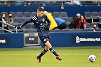 KANSAS CITY, KS - MAY 16: Ilie Sanchez #6 Sporting KC passes the ball during a game between Vancouver Whitecaps and Sporting Kansas City at Children's Mercy Park on May 16, 2021 in Kansas City, Kansas.