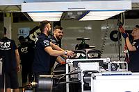 13th March 2020; Melbourne Grand Prix Circuit, Melbourne, Victoria, Australia; Formula One, Australian Grand Prix, Practice Day; Alpha Tauri packing their car away