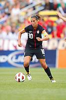 14 MAY 2011: USA Women's National Team midfielder Carli Lloyd (10) during the International Friendly soccer match between Japan WNT vs USA WNT at Crew Stadium in Columbus, Ohio.