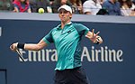 September 10,2017:   Kevin Anderson (RSA) loses to Rafael Nadal (ESP) 6-3, in the final at the US Open being played at Billy Jean King National Tennis Center in Flushing, Queens, New York.  ©Leslie Billman