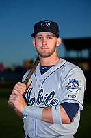 Mobile BayBears Taylor Ward (7) poses for a photo before a game against the Mississippi Braves on May 7, 2018 at Trustmark Park in Pearl, Mississippi.  Mobile defeated Mississippi 5-0.  (Mike Janes/Four Seam Images)