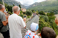 31st August 2020, Nice to Sisteron, France; Tour de France cycling tour, stage 3; Supporters and fans watching the peloton