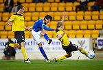 St Johnstone v Livingston...24.08.11   Scottish Communities League Cup Round 2.Francisco Sandaza scores his second goal.Picture by Graeme Hart..Copyright Perthshire Picture Agency.Tel: 01738 623350  Mobile: 07990 594431