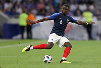 Lyon, France - Saturday June 09, 2018: Paul Pogba during an international friendly match between the men's national teams of the United States (USA) and France (FRA) at Groupama Stadium.