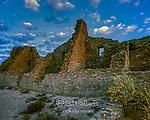 Dawn, Ruins, Pueblo Bonito, Chaco Culture National Historical Park, New Mexico