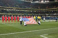 Dublin, Ireland - Tuesday, November 18, 2014: The Republic of Ireland defeat the USMNT 4-1 in an International friendly match at Aviva Stadium.