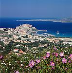 France, Corsica, Calvi: View over town | Frankreich, Korsika, Calvi: Blick ueber die Stadt