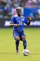 United States' forward Gyasi Zardes (20) during an international friendly at the Alamodome, Wednesday, April 15, 2015 in San Antonio, Tex. USA defeated Mexico 2-0. (Mo Khursheed/TFV Media via AP Images)