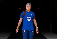 HOUSTON, TX - JUNE 9: Sophia Smith #2 of the USWNT walks onto the field before a training session at BBVA Stadium on June 9, 2021 in Houston, Texas.