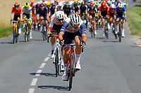 2nd July 2021; Le Creusot, France;  PEDERSEN Mads (DEN) of TREK - SEGAFREDO and SCHAR Michael (SUI) of AG2R CITROEN TEAM during stage 7 of the 108th edition of the 2021 Tour de France cycling race, a stage of 249,1 kms between Vierzon and Le Creusot