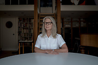 UK. London.  2nd October 2017<br /> Sally Potter photographed at her offices in East London.<br /> Andrew Testa for the New York Times