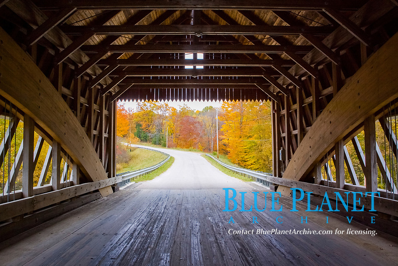 Netcher Road Covered Bridge. 110 ft in length. Neo Victorian design structure. Opened to traffic in 1999. Located over Mill Creek in northeasten Ohio.