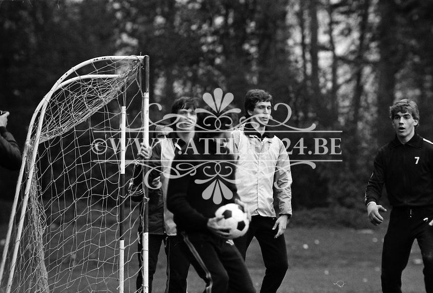 1977. RSC Anderlecht. Frank Vercauteren en Ludo Coeck.