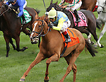 October 04, 2014: Dayatthespa and jockey John Velazquez win the 17th running of the First Lady Grade 1 $400,000 at Keeneland Racecourse.  Candice Chavez/ESW/CSM