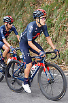 Richard Carapaz (ECU) in the peloton during Stage 12 of the Vuelta Espana 2020 running 109.4km from Pola de Laviana to Alto de l'Angliru, Spain. 1st November 2020..    <br /> Picture: Luis Angel Gomez/PhotoSportGomez | Cyclefile<br /> <br /> All photos usage must carry mandatory copyright credit (© Cyclefile | Luis Angel Gomez/PhotoSportGomez)