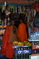 Buddhist Monks in a small town near Kandy,  Sri Lanka