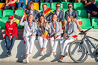 Team Belgium: The Opening Ceremony. 2021 SUI-FEI European Eventing Championships - Avenches. Switzerland. Wednesday 22 September 2021. Copyright Photo: Libby Law Photography