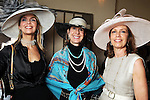 Liz Scully, Anne Coskey and Helen Hemingway at the Hermann Park Conservancy Hat Party Tuesday March 9,2010. (Dave Rossman Photo)