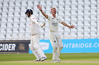 Lyndon James of Nottinghamshire appeals for the wicket of Paul Walter during Nottinghamshire CCC vs Essex CCC, LV Insurance County Championship Group 1 Cricket at Trent Bridge on 9th May 2021