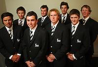 NZ men's team, back row: Ben Campbell, Ryan Fox, Nick Gillespie, Tim Leonard; front row: Andrew Stewart, Keelan Kilpatrick, Vaughan McCall, Mark O'Malley. Trans-Tasman NZ teams at Royal Wellington Golf Club, Wellington, New Zealand on Sunday, 28 March 2010. Photo: Dave Lintott / lintottphoto.co.nz