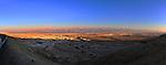 28 December 2011: Dusk photographs overlooking the Dead Sea in the Negev Desert north of  Eilat, Southeast of Jerusalem, Israel. The mountain range seen beyond the Dead Sea is in Jordan. Mandatory Credit: Ed Wolfstein