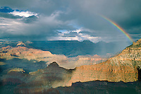 Rainbow over Yaki Point<br />   from Mather Point,  Grand Canyon<br /> Grand Canyon National Park<br /> Colorado Plateau,  Arizona