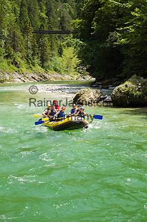 Austria, Styria, Palfau: adventure at SalzaArena - whitewater rafting on river Salza | Oesterreich, Steiermark, Palfau: Abenteuer in der SalzaArena - Wildwasser-Schlauchbootfahrt auf der Salza
