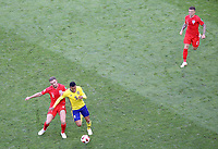 SAMARA - RUSIA, 07-07-2018: Martin OLSSON (Der) jugador de Suecia disputa el balón con Jordan HENDERSON (Izq) jugador de Inglaterra durante partido de cuartos de final por la Copa Mundial de la FIFA Rusia 2018 jugado en el estadio Samara Arena en Samara, Rusia. / Martin OLSSON (R) player of Sweden fights the ball with Jordan HENDERSON (L) player of England during match of quarter final for the FIFA World Cup Russia 2018 played at Samara Arena stadium in Samara, Russia. Photo: VizzorImage / Julian Medina / Cont