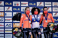 cx world champion Ceylin del Carmen Alvarado (NED/Alpecin-Fenix) now also is the reigning European cyclocross Champion, while her fellow countrywomen Annemarie Worst (NED/777) & Lucinda Brand (NED/Telenet-Baloise Lions) complete the (exclusively dutch) podium<br />