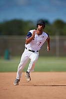 Damon Fountain during the WWBA World Championship at the Roger Dean Complex on October 20, 2018 in Jupiter, Florida.  Damon Fountain is an outfielder from Lake Charles, Florida who attends Alfred M. Barbe High School and is committed to Tulane.  (Mike Janes/Four Seam Images)