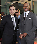Damon Wayans Jr. and Jake Johnson attends The Twentieth Century Fox L.A. Premiere of Let's Be Cops held at The Cinerama Dome in Beverly Hills, California on August 07,2014                                                                               © 2014 Hollywood Press Awards