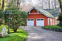 BNPS.co.uk (01202) 558833. <br /> Pic: Bidwells/BNPS<br /> <br /> Pictured: Garage.<br /> <br /> Better than a gravy boat...<br /> <br /> A striking country house built by a bishop as a wedding gift for his son is on the market for offers over £2m.<br /> <br /> Dunbeg House sits in an incredible position on the bank of a loch with stunning panoramic water and mountain views.<br /> <br /> The impressive property not only includes the five-bedroom main house, but also a two-bedroom cottage that has been run as a successful holiday let and over four acres of woodland garden.