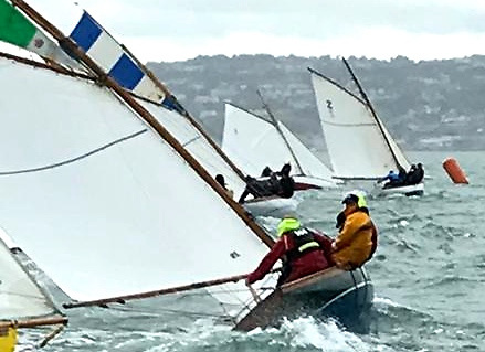 Deilginis and Isobel persevering with topsails while Rita and Pauline show that bald-headed was ultimately the way to go. Photo: John Doran