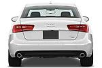 Straight rear view of 2012-2014 Audi A6  Premium Plus 4 Door Sedan stock images