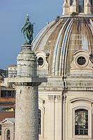 Trajan's Column & Santa maria di Loreto, Rome, Italy.