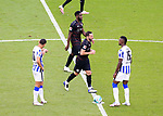 17.10.2020, OLympiastadion, Berlin, GER, DFL, 1.FBL, Hertha BSC VS. VfB Stuttgart, <br /> DFL  regulations prohibit any use of photographs as image sequences and/or quasi-video<br /> im Bild Carneiro da Cunha (Hertha BSC Berlin #10), Jhon Cordoba (Hertha BSC Berlin #15)<br /> Gonzalo Castro (VfB Stuttgart #8)<br /> <br />     <br /> Foto © nordphoto /  Engler