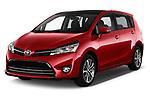 2017 Toyota Verso 50th-Anniversary+-PACK 5 Door Mini MPV Angular Front stock photos of front three quarter view