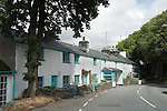 Welsh cottages,  Brondanw Arms pub in Llanfrothen, Wales Uk.