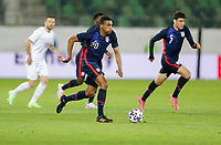 ST. GALLEN, SWITZERLAND - MAY 30: Reggie Cannon #20 of the United States dribbles with the ball during a game between Switzerland and USMNT at Kybunpark on May 30, 2021 in St. Gallen, Switzerland.