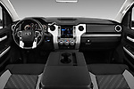 Stock photo of straight dashboard view of a 2018 Toyota Tundra SR5 5.7L Double Cab Long Bed 4 Door Pick Up